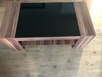 Black and wood effect coffee table