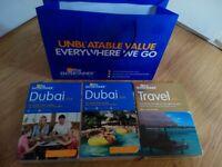 Dubai entertainer Vouchers- Vol 1 and 2 and brand new sealed dubai travel book voucher