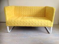 Yellow 2-seat sofa: KNOPPARP from Ikea – playful & versatile