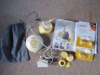 Medela Swing Breastpump, Calma bottles with solitaire, (plus spare parts & extras)