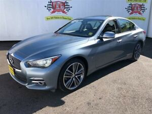 2015 Infiniti Q50 Limited, Navigation, Leather, Sunroof, AWD