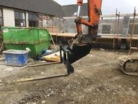 Excavator pallet fork bracket toes ( forklift telehandler hitachi komatsu )