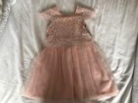 Adorable dusty pink lace bodice dress 9-12m