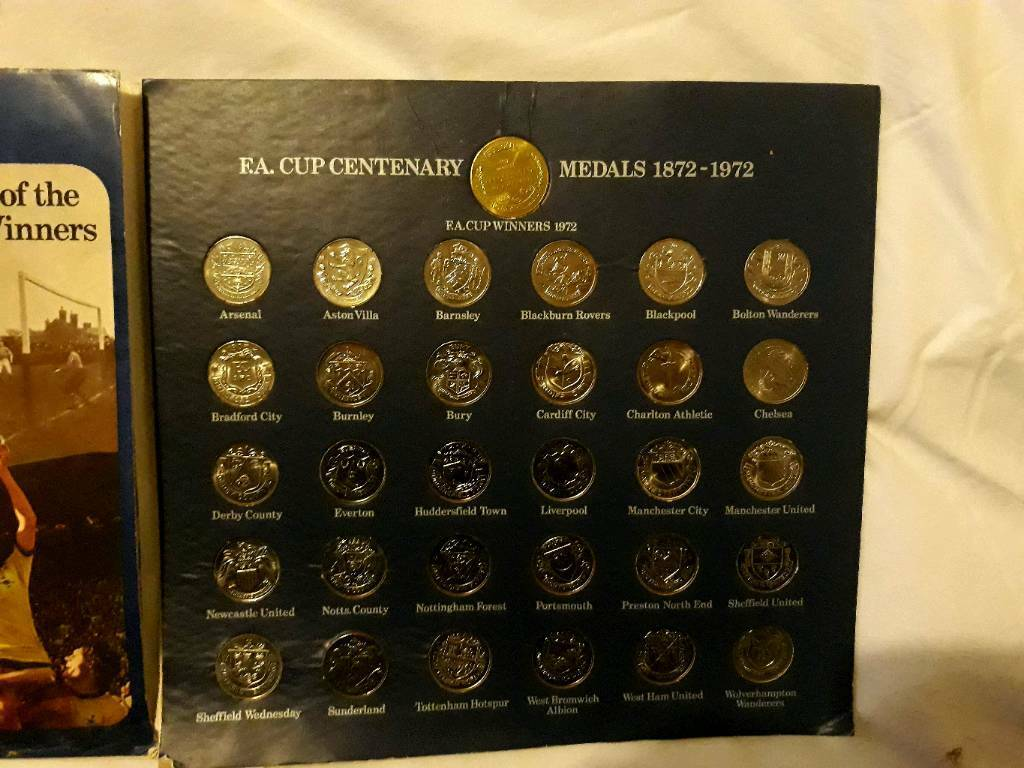 FA cup centenary coin collection