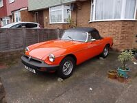 MGB Roadster, very good condition, Baby forces sale, low mileage, lots of work done