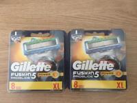 Brand New Gillette Fusion Proglide Power Razor 8 Blades