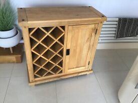 Oak Furnitureland Wine rack and Cupboard