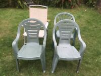4 Chairs for garden