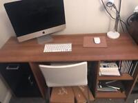 Walnut and black gloss desk