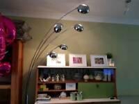 Vintage Retro Style Curva Chrome Floor Lamp Standard Light