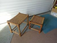 Woven Top footstools/occasional tables