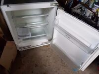 Bush integrated white larder fridge