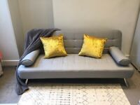 Grey sofa bed