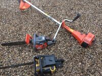 2 chainsaws and a strimmer