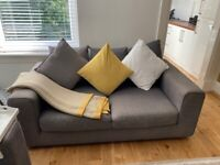Grey 2 seater and 3 seater sofa