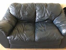Harvey's leather sofa set