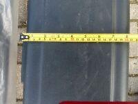 "Trailer mudguards X2 black plastic 8"" wide 5' long"