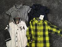 4 Next Baby shirts - size 3-6 months