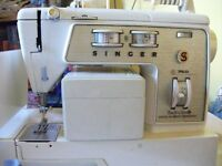 Singer touch and sew 760 sewing machine with original manual and threading set up sheet