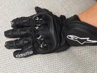 Alpinestar motorbike gloves small