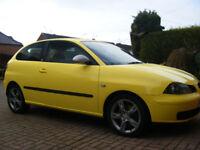 Seat Ibiza FR 1.9TDi 130 PD. 3 door hatch 54 plate sports diesel in Yellow