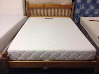 pine bed with mattress for sale