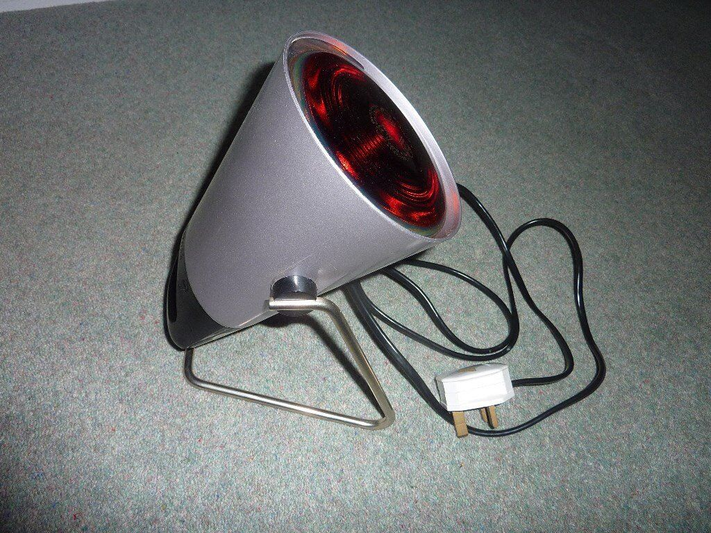 """heat lampin Broadstairs, KentGumtree - heat lamp """"Phillips"""" infraphil , infra red heat lamp , for aches ,pain , muscle strain , immaculate condition , boxed"""