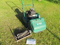 Suffolk Punch 14SK petrol mower and scarifier