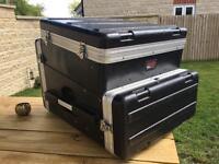 "Gator Flight Case - 19"" Mixer and 4U Amp Rack in one"