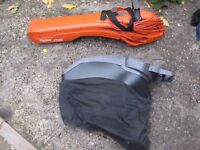 FLYMO Garden Leaf Vac 1500 Plus. Blow Vac Shred. LLANDEILO. Optional extras available separately.