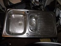 Stainless Steel Bowl And A Half Inset Sink Top Reversable Weymouth
