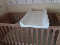 Baby changing cotbed mat