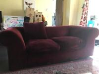 Habitat Louis velvet sofa