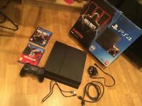 500GB PS4 complete with box, original game and extra game