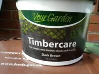 Timbercare paint dark brown