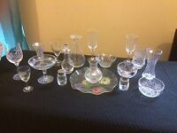 Large Collection of Crystal Glass Ware