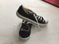 Converse black and white all stars.Size 6.5.Brand new.