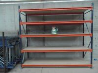 SHELVING (industrial) 2.45m high x 2.65m wide x 0.80m deep AS NEW