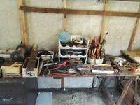 Large collection of old tools