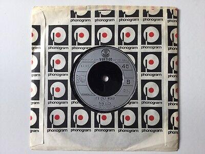 "Thin Lizzy/Jane Schaffer Mega Rare 7"" Single It's only Money/Dr Abrahams"