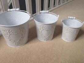Ornamental flower buckets