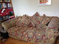 FREE Extra large 4 seater sofa and footstool