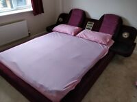 Red retro bed & additional storage under bed