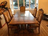 Dining Table & 6 Chairs (Further 2 Available)