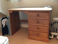 Light wooden desk