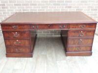 Mahogany Huge Partners Desk (UK Delivery)