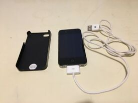 Iphone 4 - Model A1332 GSM black. Charge cable without plug, hard case,unlocked. £45