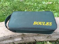Boules set, metal boules and case, never used, instructions, makes a nice Christmas gift
