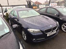 BMW 2.0 520D EFFICIENT DYNAMICS 6 SPEED SAT NAV FULL LEATHER 2012 / 1 OWNER / FSH /£30 TAX HPI CLEAR