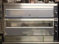 Hot Display Cabinet Double Deck Compact Chicken Heated Display like Henny Penny